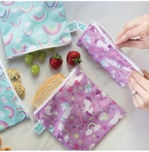 Bumkins 2-Pk. Unicorn & Rainbow Snack Bag Set