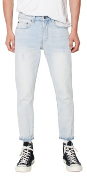 Zeegeewhy Men's Lightweight Cropped Slim Fit Jeans
