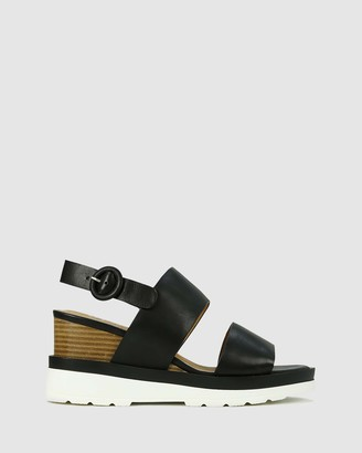 EOS Women's Black Wedge Sandals - Jades - Size One Size, 40 at The Iconic