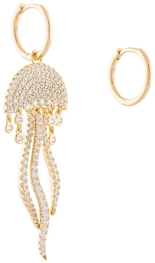 Ete II asymmetric jellyfish earrings