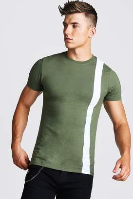 boohoo Muscle Fit Colour Block T-Shirt