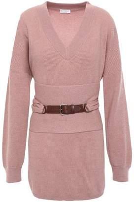 Brunello Cucinelli Belted Cashmere Sweater