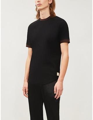 PREVU Two-tone woven T-shirt