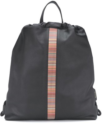 Paul Smith Striped Drawstring Backpack