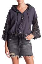 Anama Hooded Lace Crop Jacket