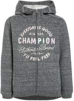 Champion HOODED FULL ZIP Tracksuit top grey