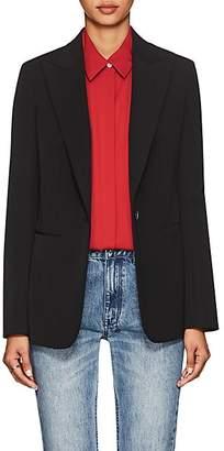 The Row Women's Limay Cotton-Blend One-Button Blazer - Black