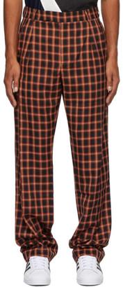 Ahluwalia Black and Red Crepe Safari Trousers