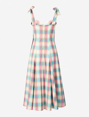Paper London Mona checked cotton midi dress