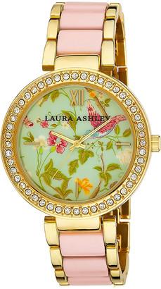 Laura Ashley Women's Watches - Pink & Goldtone Summer Duck Egg Bracelet Watch