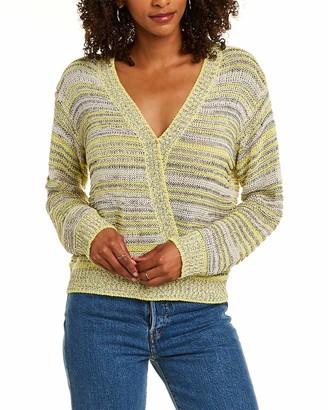 ASTR the Label Women's Long Sleeve Surplice V Neck Kent Faux WRAP Sweater