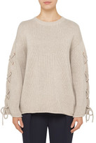 See by Chloé OVERSIZED KNIT WITH LACE UP SLEEVE DETAIL