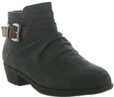 Pierre Dumas Black Buckle Zury Ankle Boot - Kids