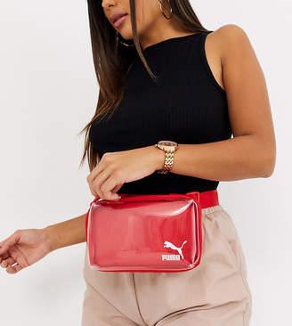 Puma transparent belt bag in red Exclusive to ASOS