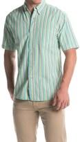 Vintage 1946 Seersucker Shirt - Button Front, Short Sleeve (For Men)
