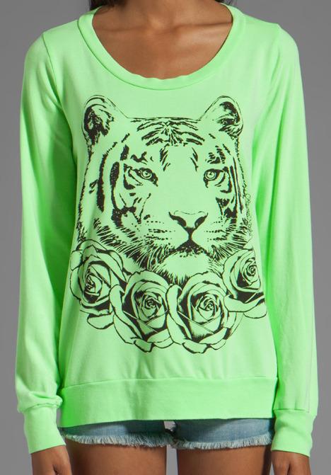Lauren Moshi Jet Rose Tiger Sweatshirt