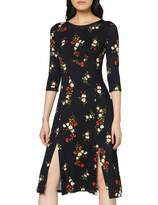Dorothy Perkins Women's Stem Floral Jersey Empire Midi Dress