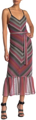 Rachel Roy Finn Chevron Waist Tie Dress