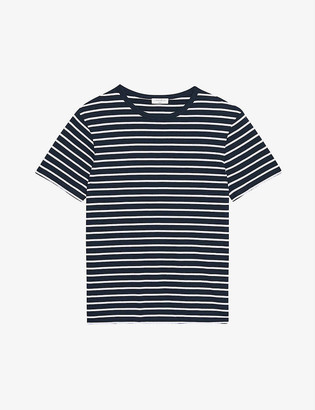 Sandro Striped cotton-jersey T-shirt