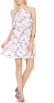 Lush Ivory Floral Halter Dress