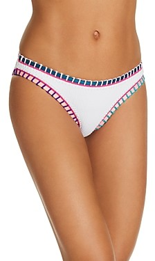 Platinum inspired by Solange Ferrarini Color-Block Whipstitched Scoop Bikini Bottom - 100% Exclusive