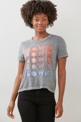 Chaser Bowie Metallic Graphic Tee Grey XS
