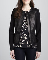 Rebecca Taylor Quilted-Leather-Panel Jacket