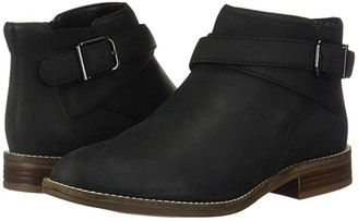 Clarks Camzin Hale (Black Leather) Women's Boots