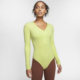 Nike Women's Infinalon Long-Sleeve Bodysuit Yoga Luxe