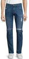 7 For All Mankind Paxtyn Destroyed Denim Jeans, Medium Blue