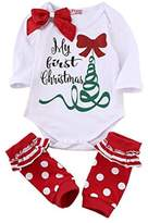 Aliven Newborn Baby Girls Long Sleeve Romper Bodysuit + Leg Warmers Clothes Outfits Set