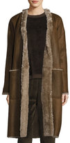 Vince Reversible Elongated Reversible Shearling Coat