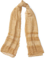 Ralph Lauren Cold-Dyed Border-Striped Scarf