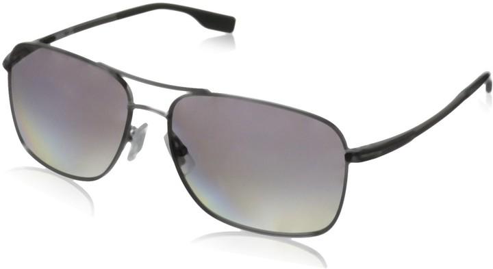 BOSS by Hugo Boss Mens B0833s B0833S Polarized Rectangular Sunglasses