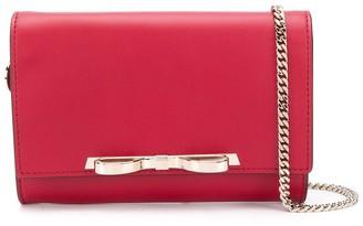 RED Valentino RED(V) Sandie bow detail clutch