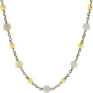 Sylva & Cie Opal And Vintage Bead Necklace