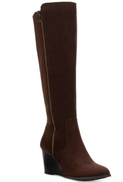Style&Co. Style & Co Wynterr Wedge Dress Boots, Created for Macy's Women's Shoes
