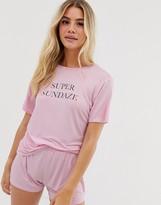 Adolescent Clothing super sundaze t-shirt and shorts pyjama set