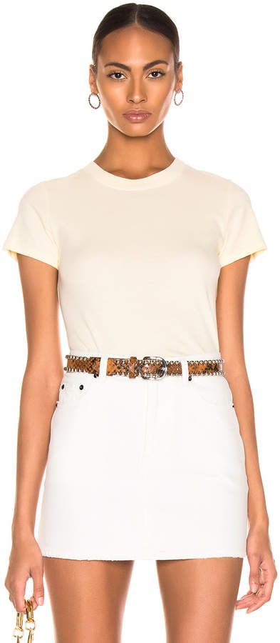 Enza Costa Classic Short Sleeve Tee in Pale Yellow | FWRD