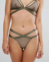 New Look Strappy Fishnet Thong