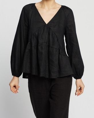Aere Tiered Smock Top