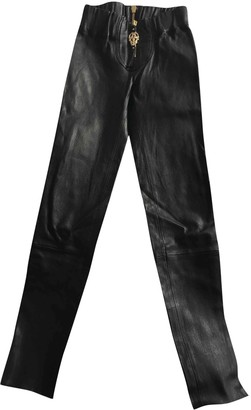 Thomas Wylde Black Leather Trousers for Women