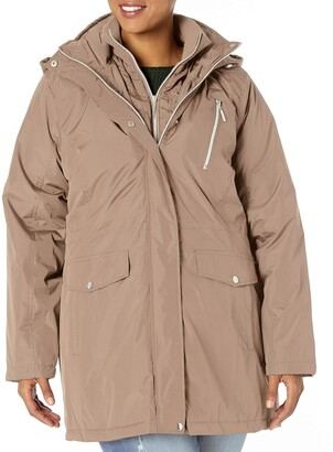 Big Chill Women's Plus Size Anorak Jacket with Quilted Vestee