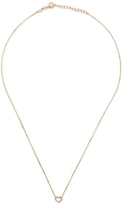 As 29 18kt rose gold Miami Open Heart diamond necklace