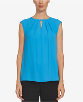 CeCe Pleated Keyhole Top