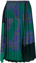 Sacai belted pleated skirt