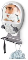 Sharper Image Water Resistant Shower Radio with LED anti fog mirror