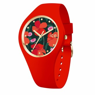 Ice Watch Ice-Watch - ICE flower Floral passion - Women's wristwatch with silicon strap - 017577 (Medium)