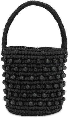 Sensi Mini Bucket Bag W/ Wooden Beads