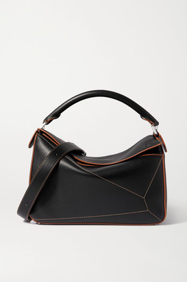 Loewe Puzzle Large Leather Shoulder Bag - Black